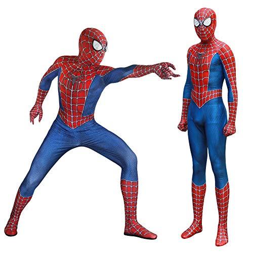 ando Guapo Fashion 3D Bedruckt Spiderman Spiderman Superhelden-Linse Spandex Zentai Jumpsuit mit Maske, Keine Schuhe für Halloween-Party etc, XX-Large ()