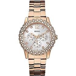 Guess W0335L3 - Reloj de pulsera para mujer, color blanco/plata