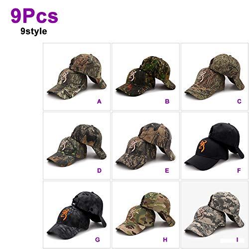 Himamk 3 Pcs Mode Camouflage Cap hat Kappe -Hut mütze Unisex Browning Baseball Frauen Männer Baumwolle Dschungel Outdoor Jagd Hut Soldat Taktische Hüte 246,2