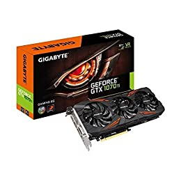 Gigabyte GV-N107TGaming-8GD - Tarjeta gráfica (GeForce GTX 1070 Ti gaming, 8GB, DDR5, 256 bit)