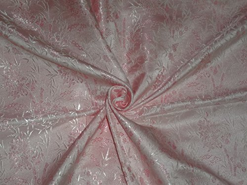 Brokat-Stoff Hellrosa Farbe 111,8cm bro272[4]