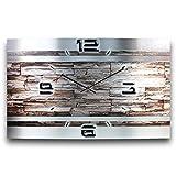Stein Abstrakt Metallic Designer Funk Wanduhr Funkuhr modernes Design * Made in Germany* WAG306FL * leise kein Ticken