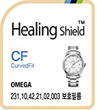 Healing shield Schutzfolie Displayschutz Screen Protector CV for Omega Watch 231.10.42.21.02.003 AquaTerra [Front 3pcs]