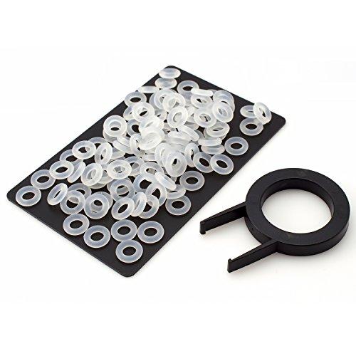 120 Noise-Dampener / O-Ring Dämpfer Transparent, EXTRA DICK / XL, SOFT 45A für mechanische Cherry MX Tastaturen inkl. Key-cap Puller
