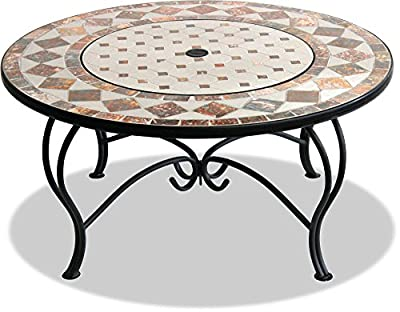 Centurion Supports Fireology Kennocha Extravagant Garden Patio Heater Fire Pit Brazier Coffee Table Barbecue And Ice Bucket - Marble Finish by Centurion Supports