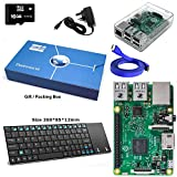 Maker-Sphere 16GB komplette Raspberry Pi Modell B 3 Quad-Core-XBMC Deutschland mit KIT-Tastatur-Layout (Clear)