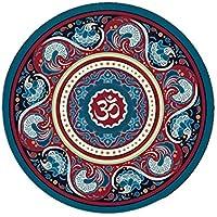 Preisvergleich für GXQ Runde Yoga Mat Naturkautschuk Druck Meditation Matte Rutschfeste Meditation Bodenmatte mehrzweck Haushalt Outdoor Kissen 3 Mm (Farbe : C)