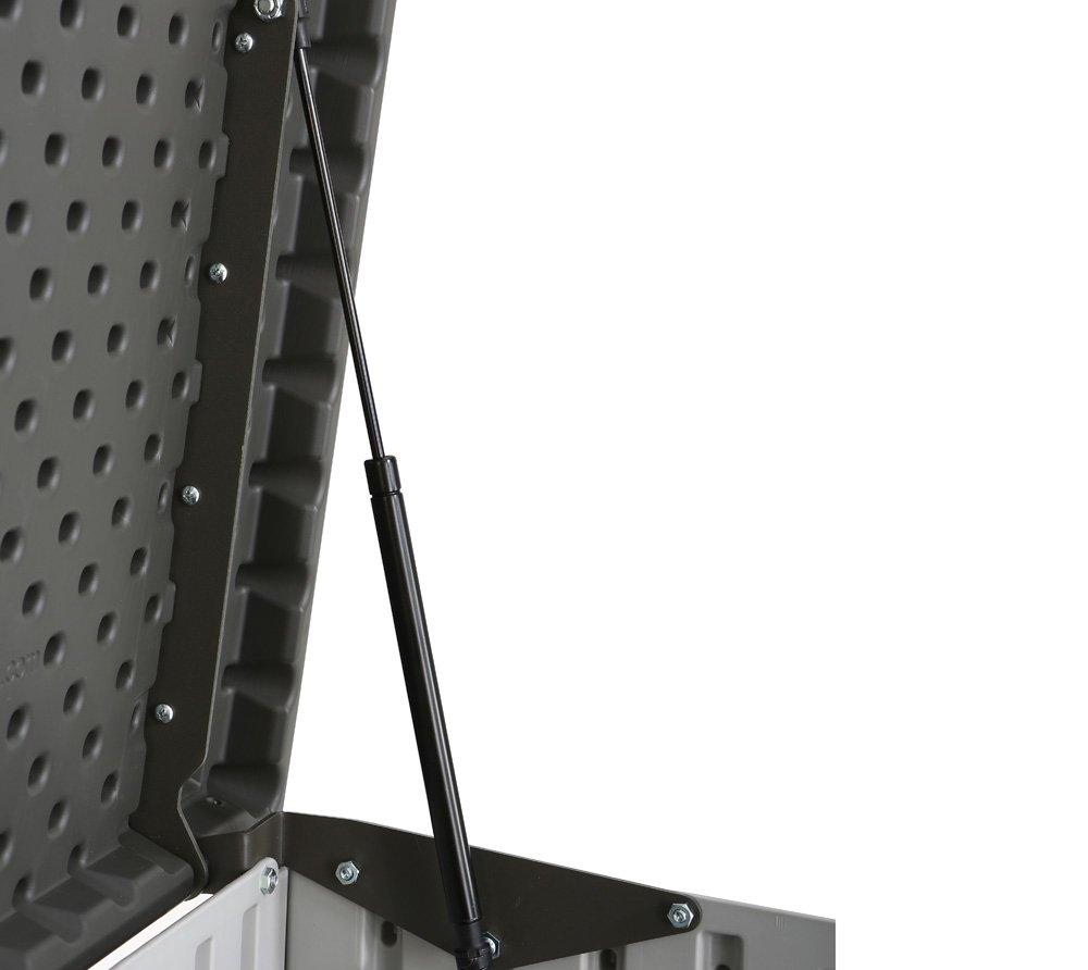 Lifetime XXL Kunststoff Mülltonnenbox, Gerätebox, Aufbewahrungsbox // BxTxH 190x108x132cm
