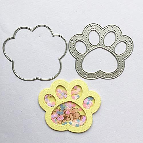 Kimilike Stanzmaschine Stanzschablone, Hund Pawprint Scrapbooking Prägestempel Stanzstempel Schablonen Für Scrapbooking, Fotopapier, Bastelprägung DIY Making Birthday Gift