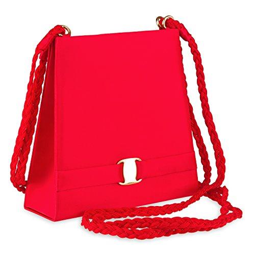 Farfalla 80870, Borsa a spalla donna Rosso (rosso)