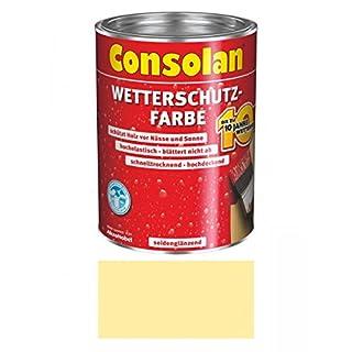 Consolan Wetterschutzfarbe 2,5 Liter, Nordisch Gelb