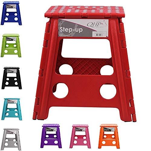 NETPROSHOP Klapphocker Step-up, Faltbarer Hocker für Stall, Haus, Camping versch. Farben, Farbe:Orange