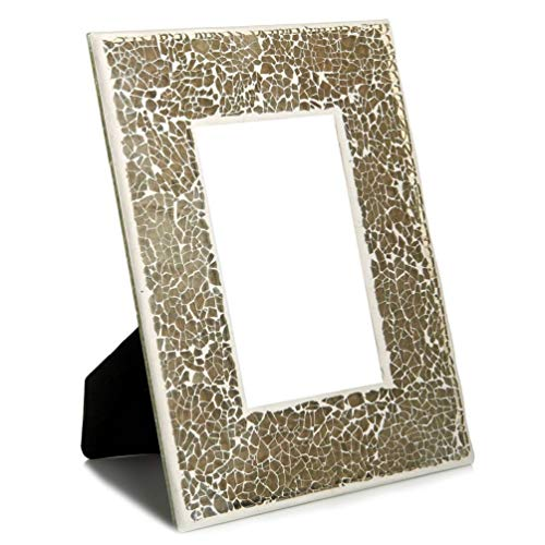 Luxury Mosaic Photo Frames In Gold And Silver For Bedroom Living Room