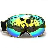 GANZTON Skibrille Snowboard Brille Doppel-Objektiv UV-Schutz Anti-Fog Skibrille Für Damen Und Herren Jungen Und Mädchen Gelb
