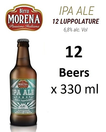 12 X Birra Morena IPA ALE 6,8 % alc vol - ml 330 - Artigianale - Craft Beer - Italian Beer - Award - Best Gift Events Christmas Easter