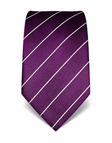 vb-mens-silk-tie-striped-many-colours-availabledarkpurple