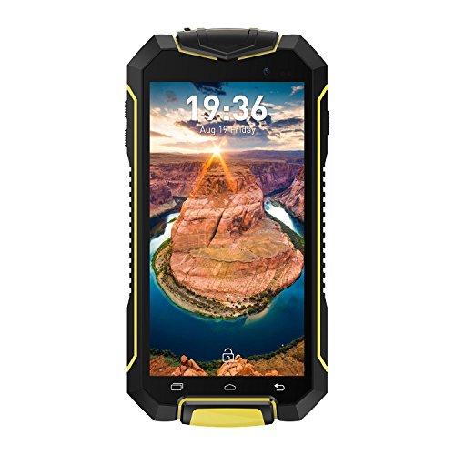 """Geotel A1 3G Smartphone (Android 7.0 MTK6580M - Quad Core - Ecran: 4.5"""" - 1Go RAM - 8Go ROM - Dual SIM Dual Veille - IP67 Étanche Anti-Poussière Anti-Choc GPS WiFi FM ) - Jaune"""