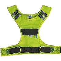 Höga Sicherheitsweste für den Sport Größe L, gelb, 98 cm mit Klettverschluss preisvergleich bei billige-tabletten.eu