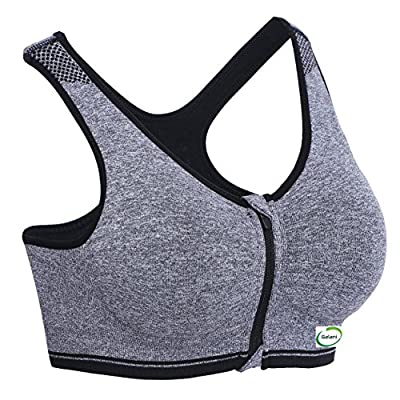 Galani&Trade; Women's Cotton Padded Sports Bra (Grey,Free Size, 30-36)