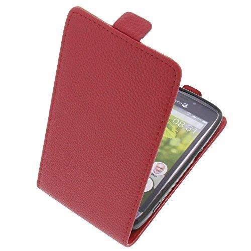 Tasche für Doro 8031 Smartphone Flipstyle Schutz Hülle rot