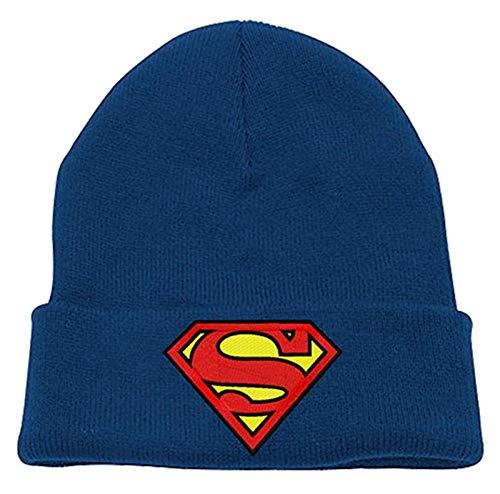 Superman Mütze Beanie classic shield Logo Nue offiziell DC Comics Blau - Dc-mütze