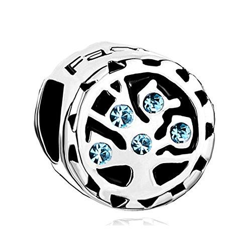 Uniqueen Fit Pandora Charms  -    Kupfer     Cristal (Amazon Schmuck Pandora Charms)