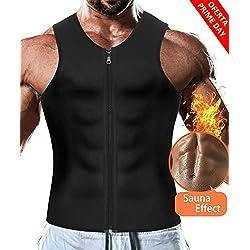 LaLaAreal Faja Reductora Adelgazante Hombre Camiseta Termica Sauna de Neopreno Fitness Running Gym Faja Deportiva