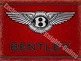 RKO Bentley Motoren 186 Vintage Garage Oldtimer Werbe Metall/Stahl Wandschild - 15 x 20 cm
