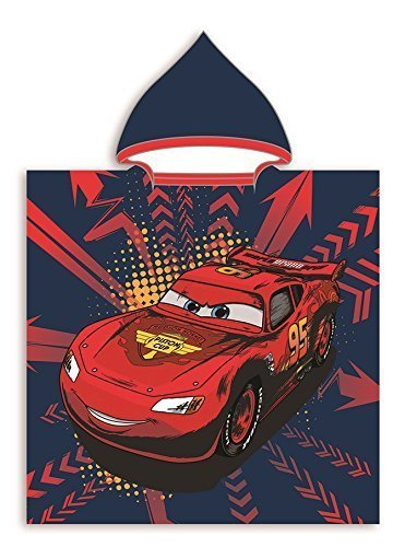 Preisvergleich Produktbild Cars Poncho Badetuch Handtuch Cape de 115x 50cm–für Kinderzimmer 100% Baumwolle