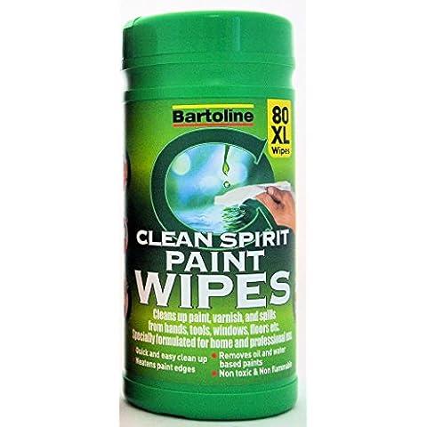 Bartoline Espíritu Clean Wipes Paquete de 80