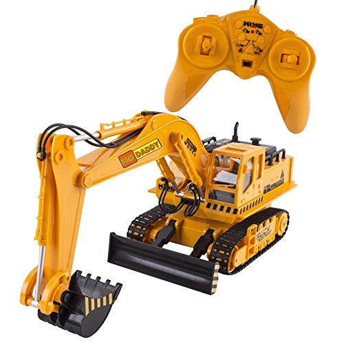 Big-Daddy Full Functional Excavator, Electric Rc Remote Control Construction Tractor Toy (with Lights and Sounds)Indoor & Outdoor Play Activity