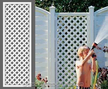 "Rankgitter, ""Longlife"" weiß, 180 x 60cm aus Kunststoff - Sichtschutz, Sichtschutz Elemente, Sichtschutzwand, Windschutz"