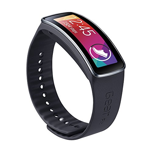 Samsung Smartwatch Replacement Band for Gear Fit Black
