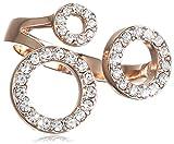 Pilgrim Damen-Ring Classic Vergoldet Kristall transparent Rundschliff Gr. 53 (16.9) - 601514054