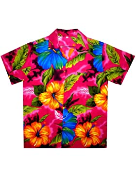 Original King Kameha | Funky Camisa Hawaiana Señores | XS - 6XL | Manga Corta | Bolsillo Delantero | impresión...