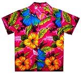 Funky Hawaiihemd, Big Flower, pink, 3XL