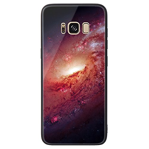 Galaxy S8 Tempered Glass Case,SUNWAY [Starry Sky][Scratch Resistant] 3 In 1 Ultra-Thin PC Hard Cover 360 Degree Protection Slim Case For Samsung Galaxy S8 - Pink