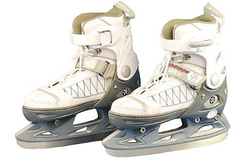 Nijdam Kinder Eishockeyschlittschuhe Icehockey Schlittschuh größenverstellbar Softboot