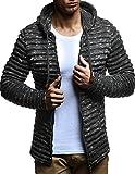 LEIF NELSON Herren Pullover Hoodie Strickjacke Kapuzenpullover Jacke Hoody Sweatjacke Zipper Sweatshirt Longsleeve LN20724; Größe S