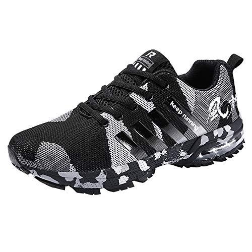 Schuhe Herren Sneaker | Holeider Camouflage Air Cushion Laufschuhe Sportschuhe Turnschuhe Freizeitschuhe Leichte Bequeme Fitnessschuhe für Männer Freizeit Mode Sneake