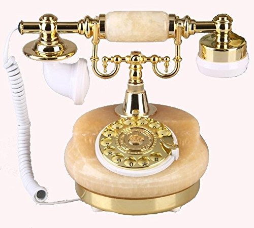 LYAO OfficeProducts@ Kreative Wählscheibe Telefone-klassische europäische Stein telefonisch antikes radio (Antike Radios)