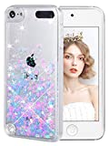 iPod Touch 5/6th Case, Wuloo Liquid Glitter Case Cute Floating Sparkle Bling Case