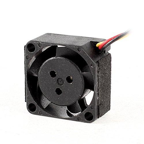 DC 5V 0.2W 20mm 3 Pin Steckverbinder Schwarz Kunststoff CPU Lüfter Kühler