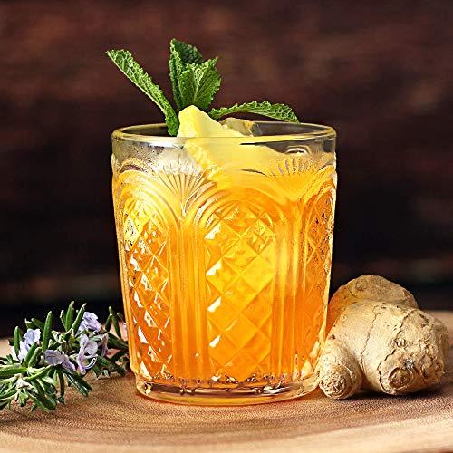 Astor Vintage Becher 340ml/12oz-Set of 4-Double Old Fashioned Whisky Rocks Gläser 4 Double Old Fashioned Gläser