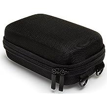 Bundlestar Hard Case PURE BLACK taglia L borsa fotografica nero (con tracolla e passante per cintura) per Sony CyberShot HX60 HX80 HX90 - Nikon Coolpix W100 S33 S9900 A900 - Panasonic Lumix DMC TZ80 - Canon PowerShot SX720 eccetera