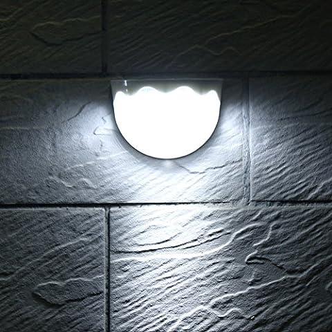 Lugii Cube 6LED Capteur de lumière extérieur étanche lampe murale pour clôture de jardin Allée balcon Lampes solaires de puissance