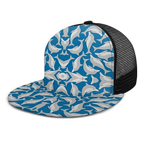 Dolphins Adjustable Cowboy Denim Hat Unisex Hip Hop Baseball Caps