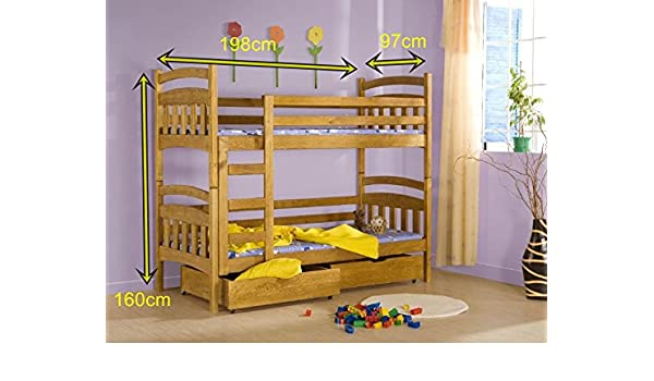 Etagenbett Schutzgitter : Bett gabi etagenbetten kiefer 2 personen l : amazon.de: küche