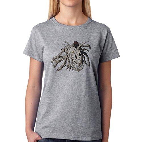 Digimon Agumon Greymon Wargreymon Wargreymon SkullGreymon Damen T-Shirt Grau