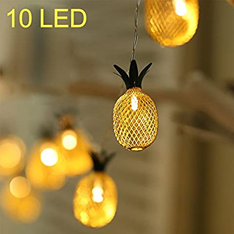 10-LED Golden Metall Mesh Ananas LED Laterne String Lights Batterie Powered Neuheit Fairy Lights für Schlafzimmer Hochzeit Patio Party Xmas Festival Dekoration